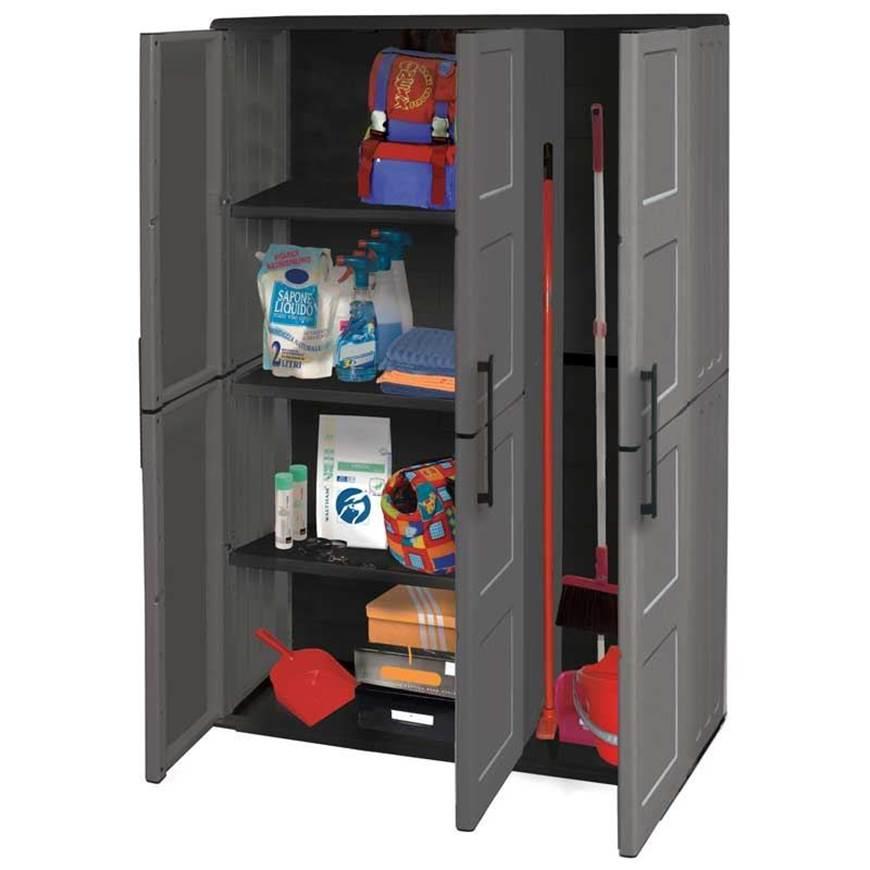 Picture of Industrial Large Triple Door Utility Cupboard