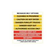 Picture of Premium Safety Belt Barriers - Messaged Belt